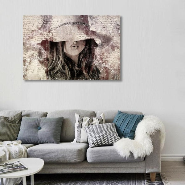 Woman with Hat  – Large Modern Art