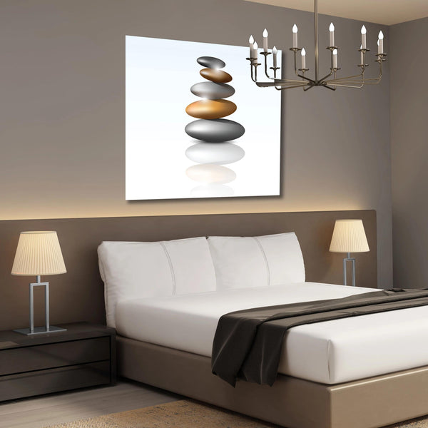 SPA Stones, Extra Large Multi-panel Metal Art for SPA salon
