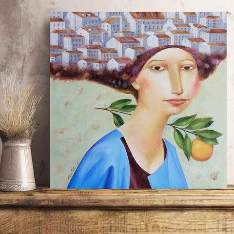 Orange Tree, Woman Portrait