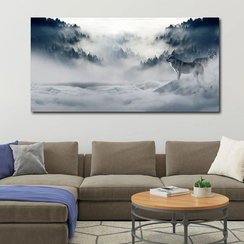 Extra Large Metal Art Print in interior