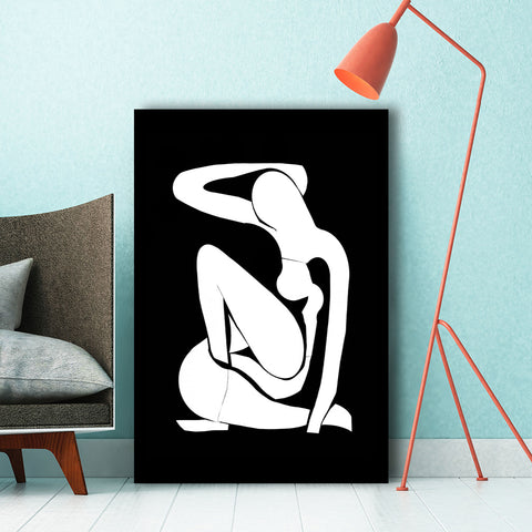 Cut Off Nude Figure – Reproduction Printed on Metal