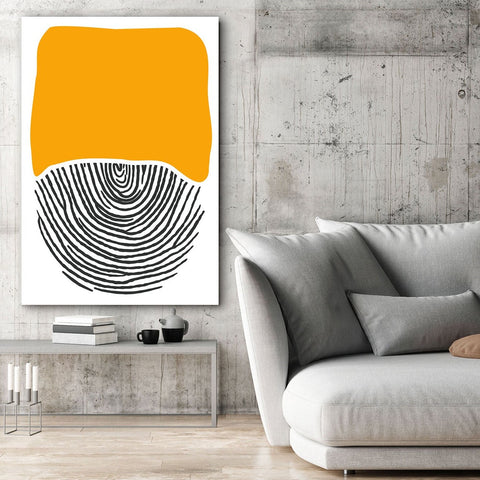 Yellow/Black Abstract Modern Extra Large Metal Wall Art