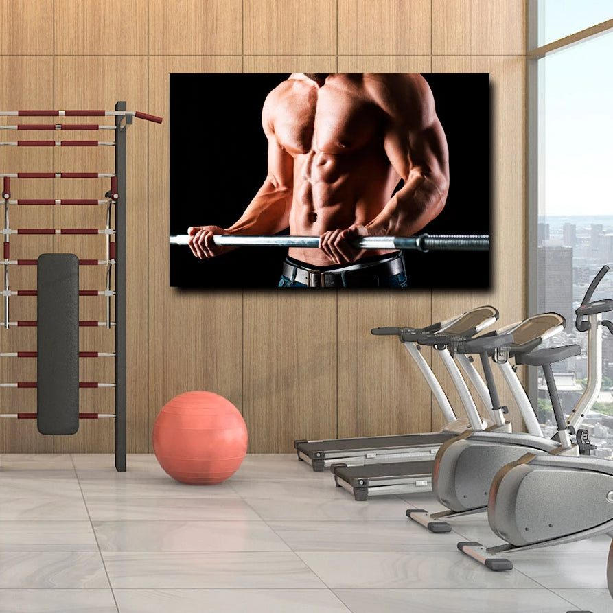 Barbell Workout – Photo on metal