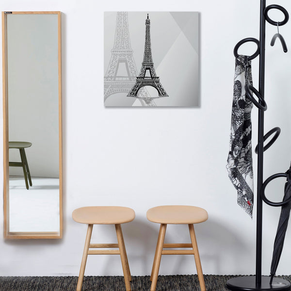 Hand-drawn Sketch Eiffel Tower Paris France – Modern Art