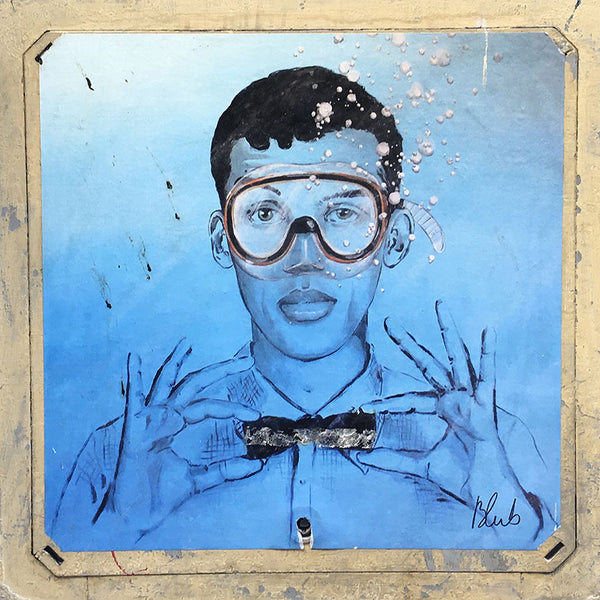 Boy in goggles– Graffiti Street Art (Italy) – Large Print on Metal