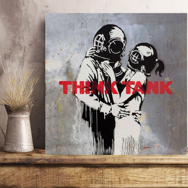 Banksy Think Tank, Graffiti Street Art – Print on Metal