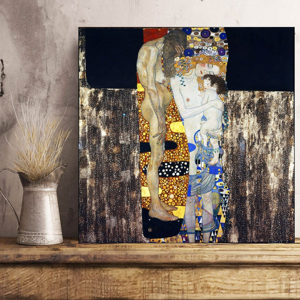 Gustav Klimt, Three Ages of Woman – Reproduction on Metal