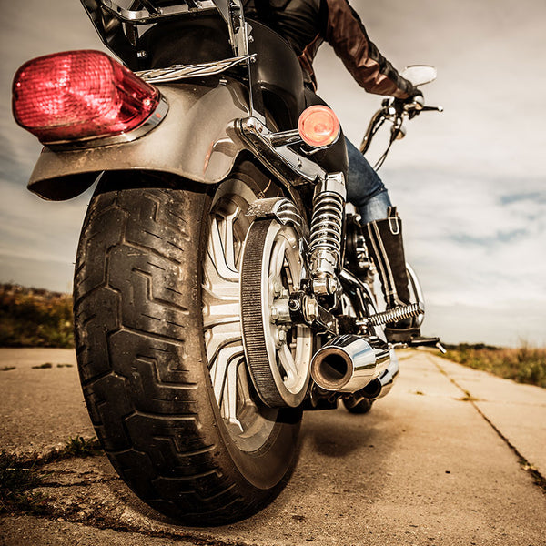 Biker Motorcycle – Photo on Metal