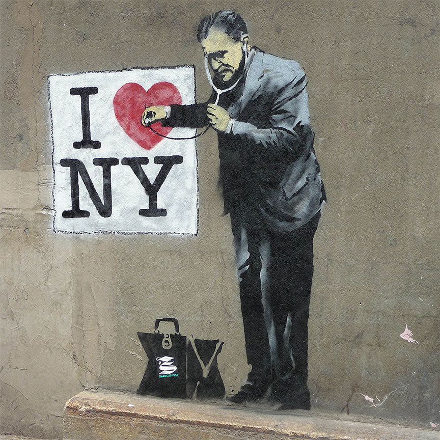 Banksy I love NY, Graffiti Street Art – Metal Poster