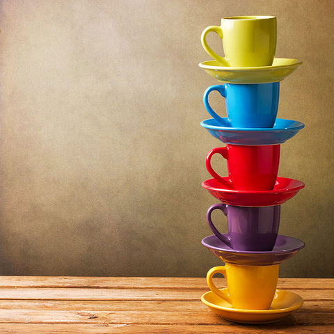 Colorful cups – MODERN KITCHEN WALL ART