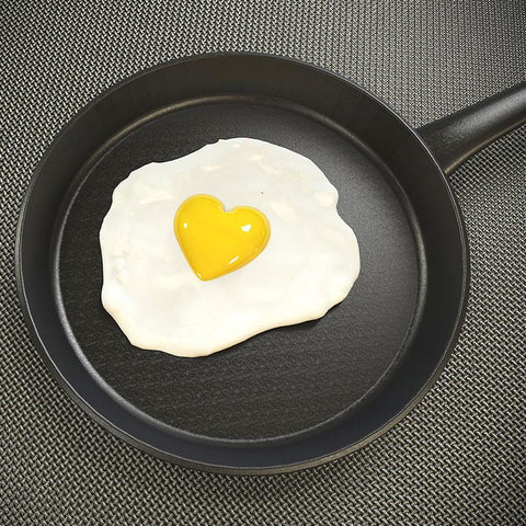 Fried Eggs – Modern Kitchen Art – Photo on metal
