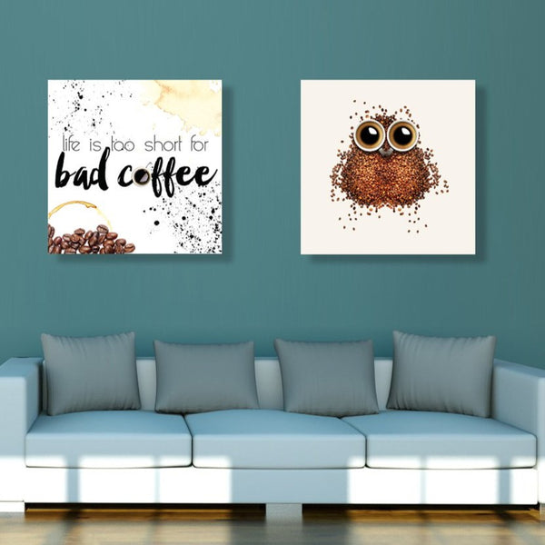 Coffee Art – Modern Kitchen Wall Art on Metal