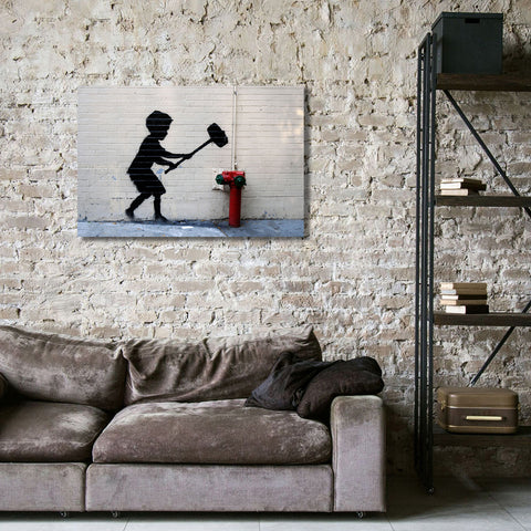 Banksy, Hammer Boy, Graffiti Street Art