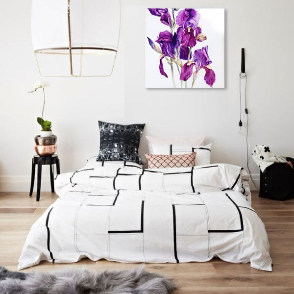 Flower Gladiolus – Large Modern Art Photo on Metal