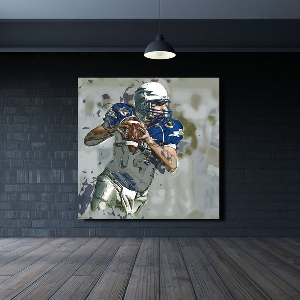 Quaterback – Multi Panel Extra Large Wall Metal Art Print