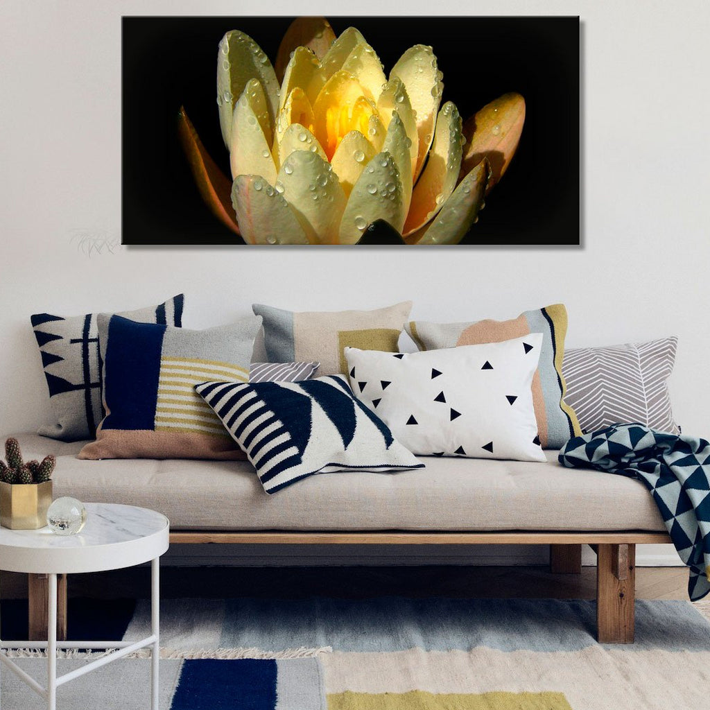 Yellow Lotos – Extra Large Photo Printed on metal