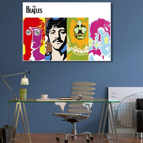 The Beatles – Poster – Extra Large Digital Art on Metal