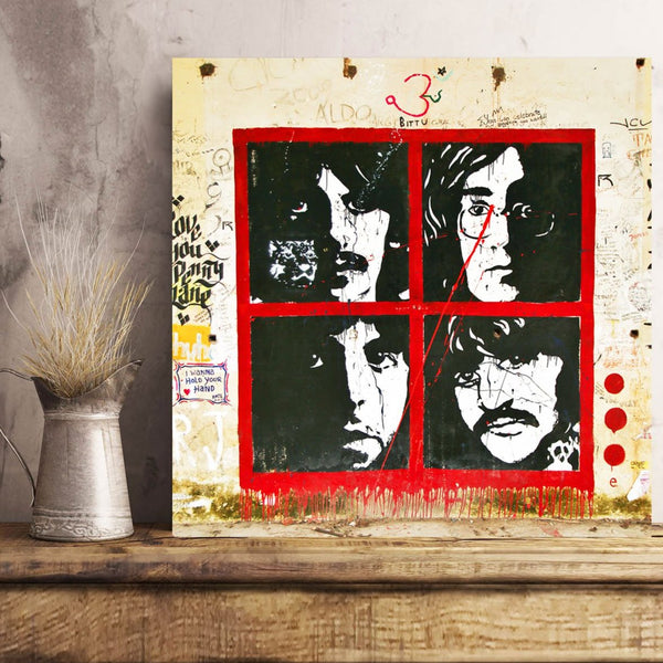 The Beatles – Graffiti Street Art (India) – Print on Metal