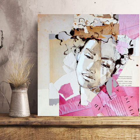 Sense Tito – Collage Art Printed on Metal