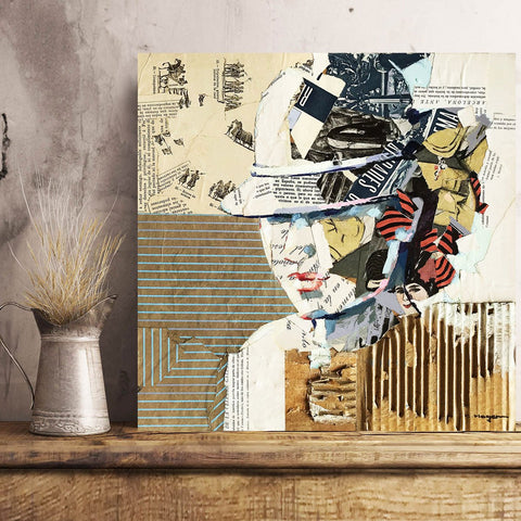 Dones 3 – Collage Art Printed on Metal