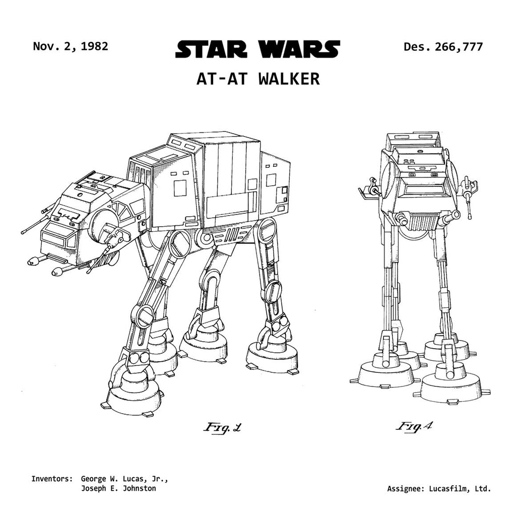 STAR WARS AT-AT IMPERIAL WALKER Patent Print