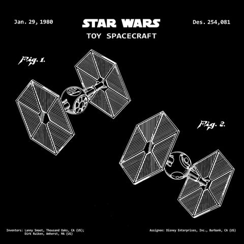 STAR WARS TOY SPACECRAFT (1980) Patent Print