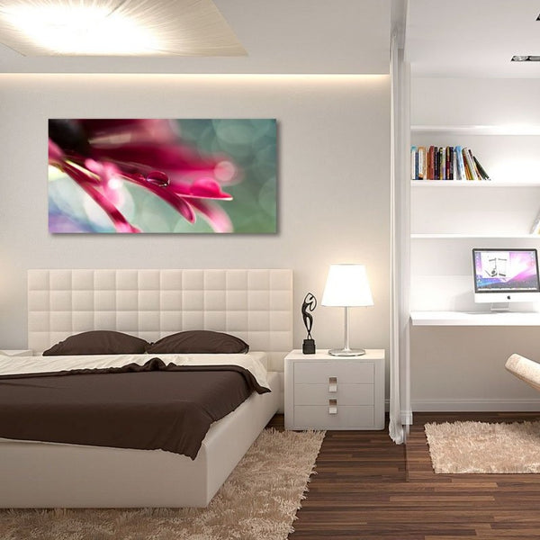 "Beautiful Flower Petals – Extra Large Photo 24""x48"" on metal"
