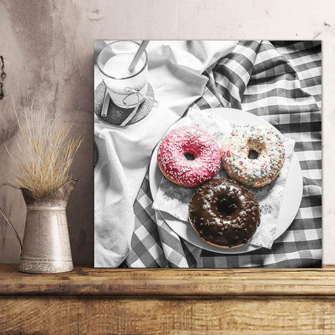 Donuts, Retro style – Extra Large Kitchen Metal Wall Art Print
