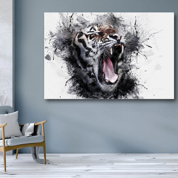 Tiger, Watercolor – Extra Large Metal Print
