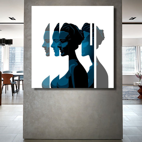 Broken Woman Portrait, Digital art – Metal Poster