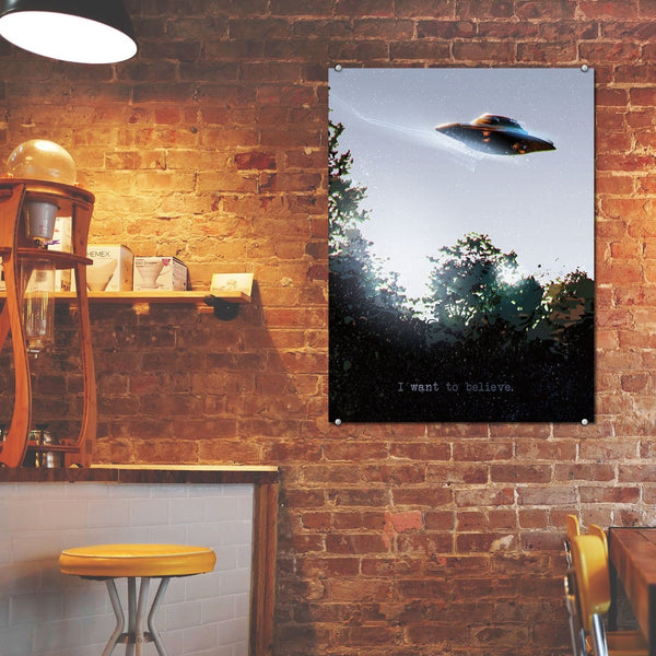 I Want To Believe – Metal Poster