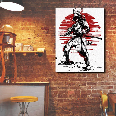 Red Sun Samurai – Metal Poster