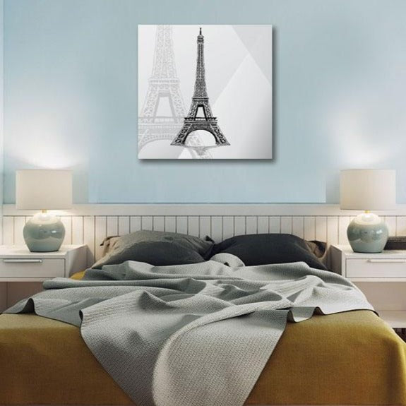 Hand-drawn Sketch Eiffel Tower Paris France