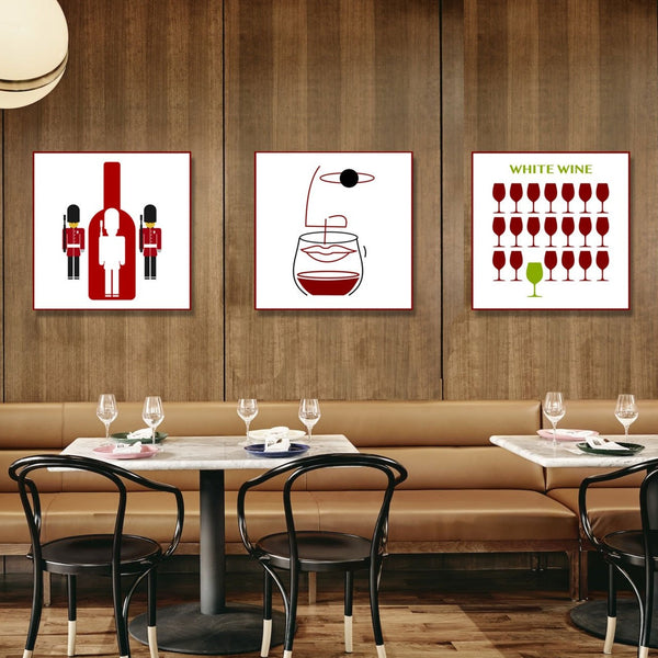 Wine ART. Bottle with soldiers Metal Poster – Digital Art on metal