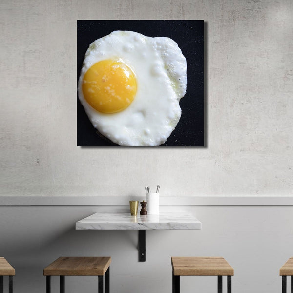 Fried Eggs – Extra Large Kitchen Art Print on Metal