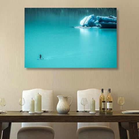 Vitaliy Hantsevich Water & Ice Landscape, Print on Metal (with Author's Signature)