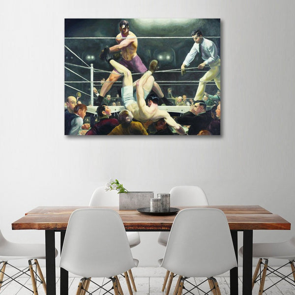 George Bellows, Boxing (2) – Reproduction on Metal