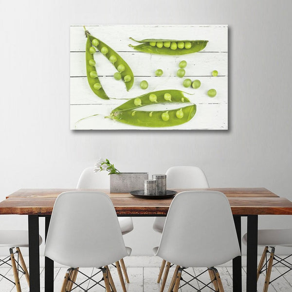 Composition with pea – Extra Large Kitchen Art printed on Metal