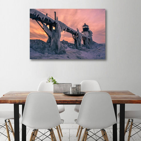 Vitaliy Hantsevich – Frozen Bridge – Photo on Metal (with Author's Signature)