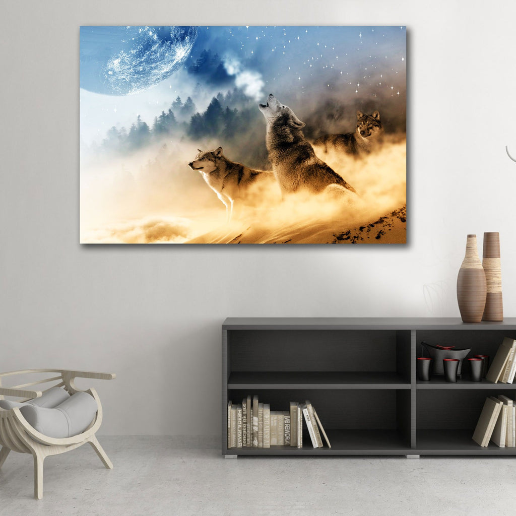 Large Metal Art Print in interior