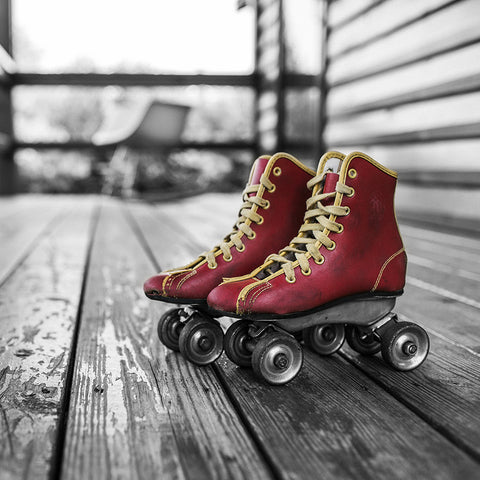 Vintage Pair of Roller-Skates Boots – Large Modern Art
