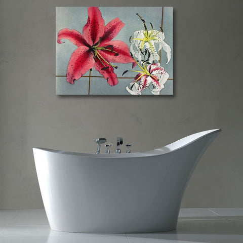 Lily Japanese Flowers, Panting