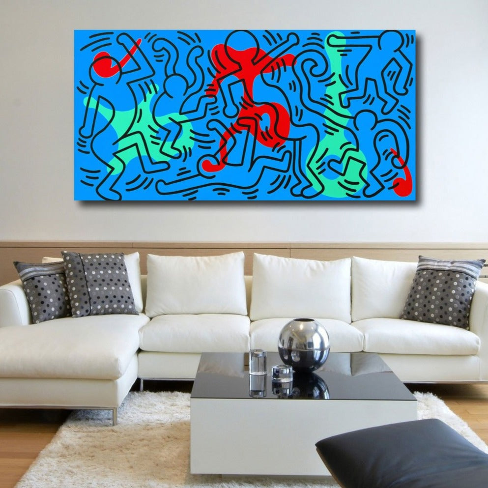 Keith Haring Inspired Abstract Digital Art