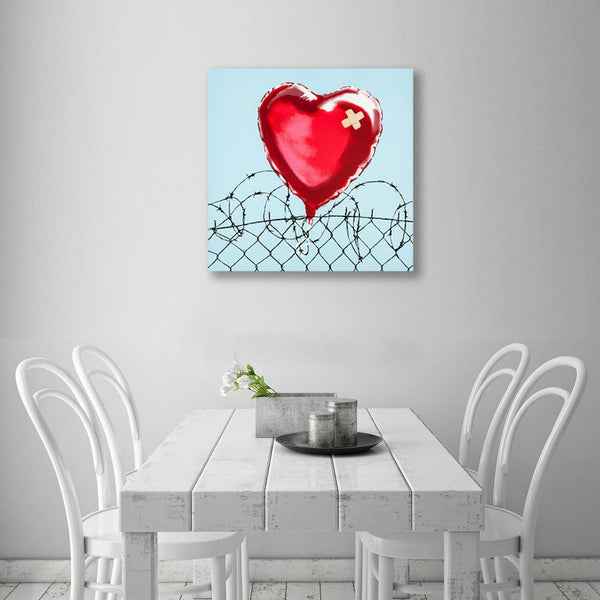 Banksy You Broke My Heart, Graffiti Street art – Metal Print