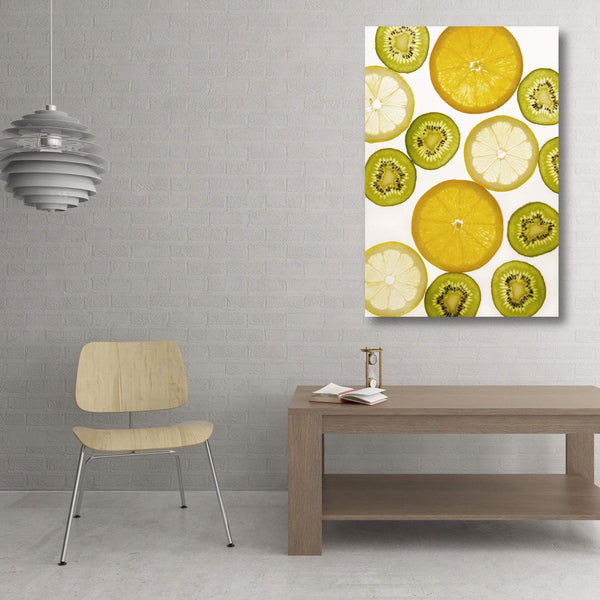 Fruits Citrus Slices Composition, Metal Art Print