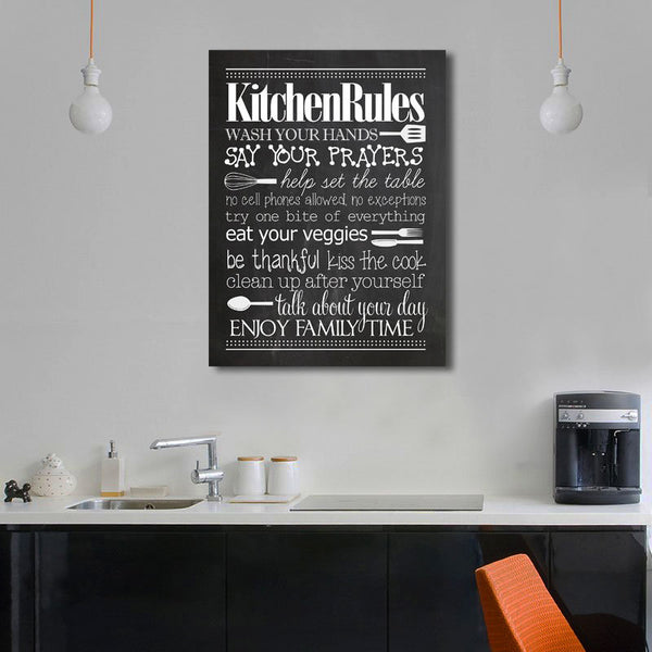 Kitchen Rules - Vintage Metal Poster