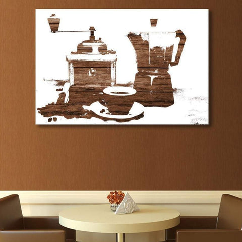 Coffee Composition - Large Metal Art Print
