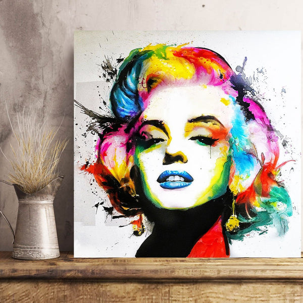 Marilyn Monroe Abstract Multi-color Portrait, Metal Art Print