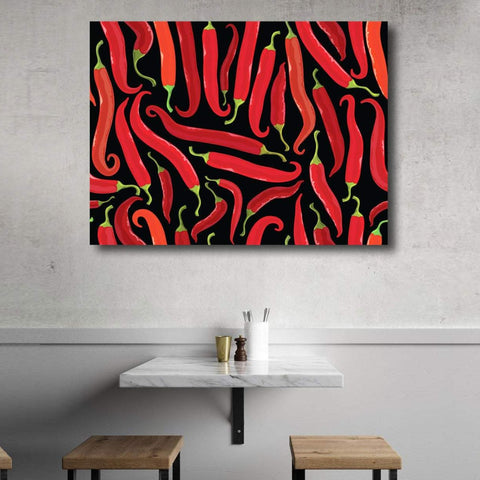 Red Pepper, Black Background - Metal Art Print