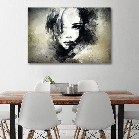 Abstract Women's Portrait, Metal Art